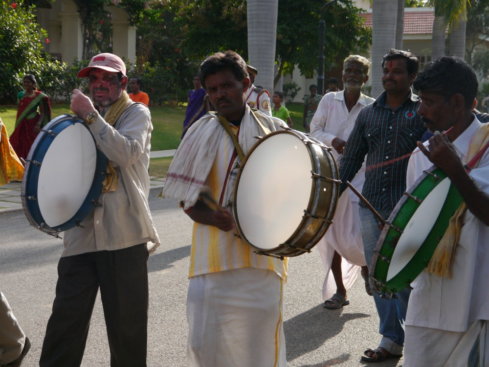 Beating the drum for Ganesha