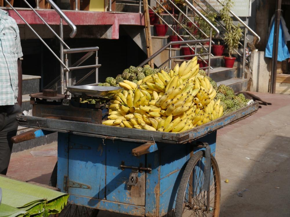 fruit stall bananas custard apples