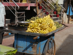 fruit stall bananas custard apples