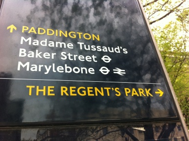 Marylebone Road sign