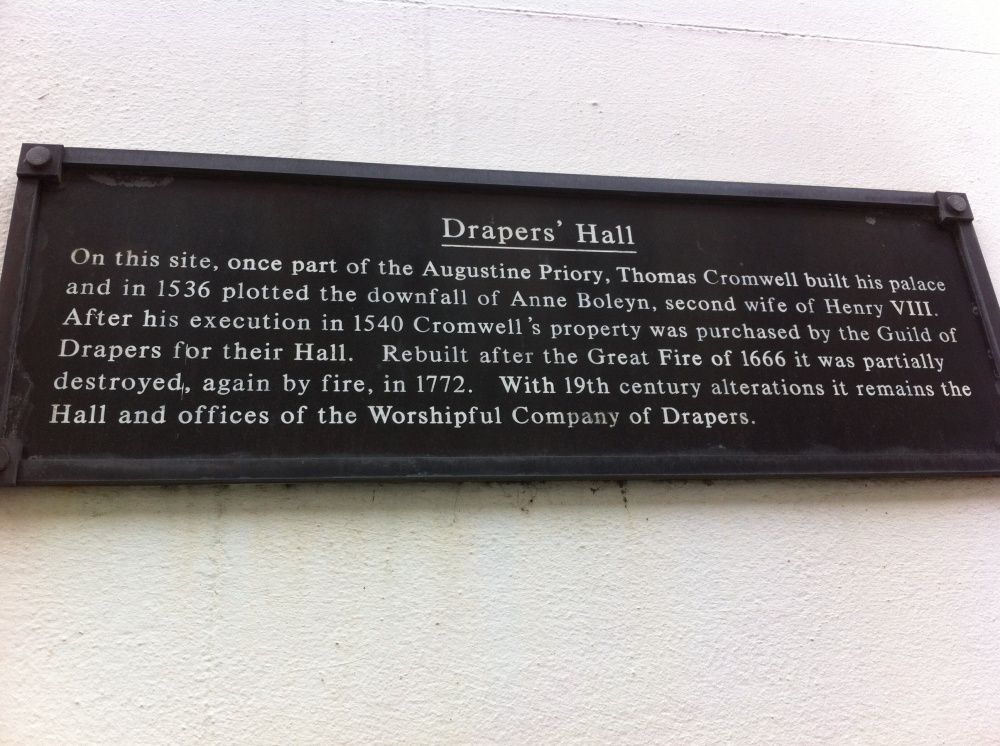Sign for Drapers' Hall