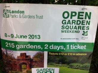 Open Garden Squares Weekend Poster