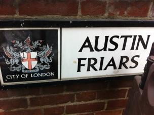 Austin Friars sign