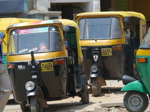 group of autorickshaws