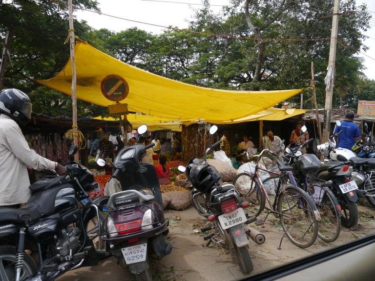 Motorbikes at Varthur Market