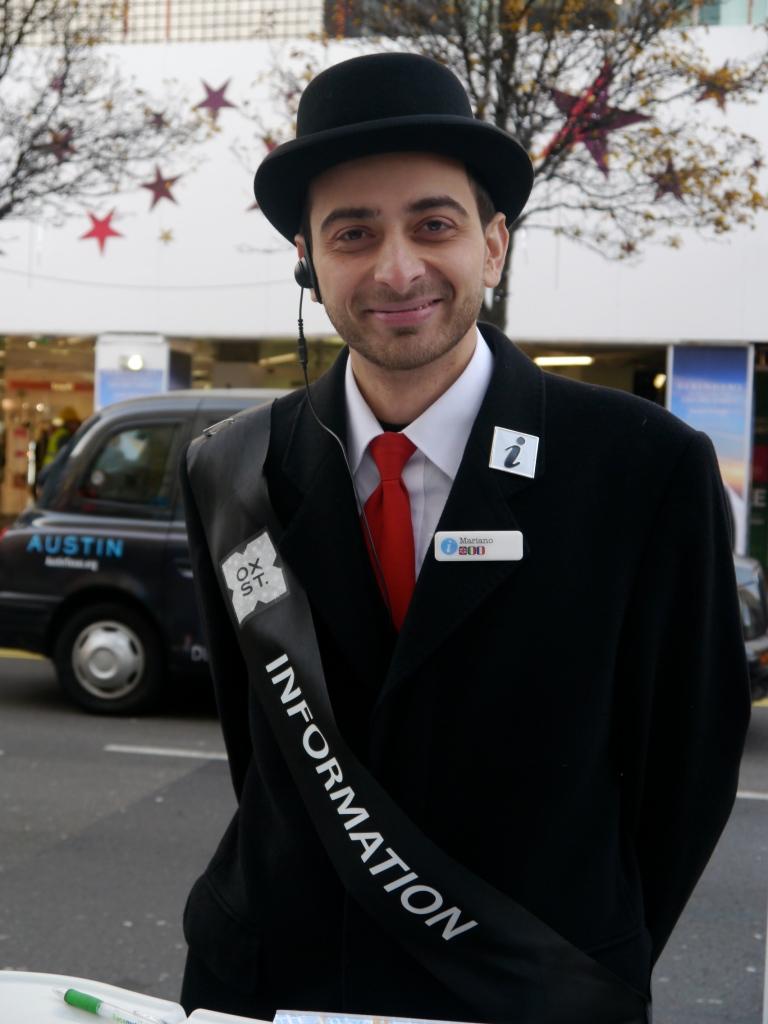 Oxford Street information guy