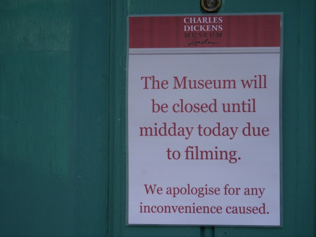 Not so welcome to the museum today