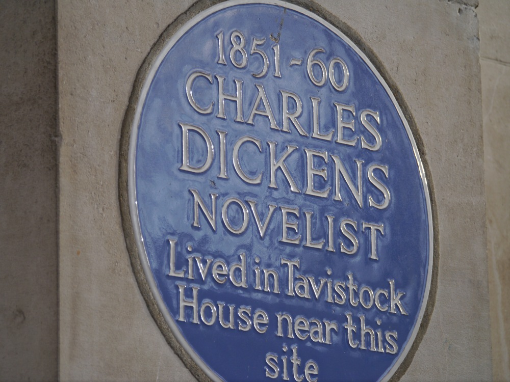 Blue plaque for Dickens on the building now occupied by the British Medical Association