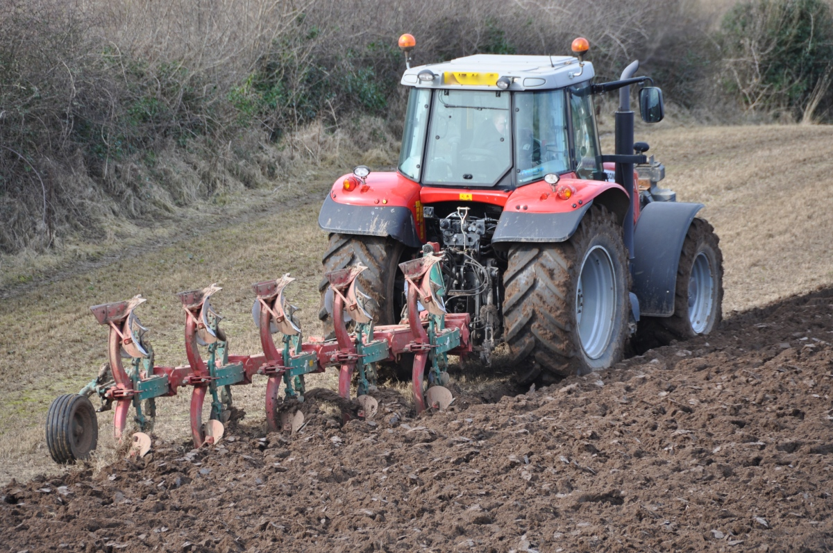 Ploughing with a Massey Ferguson