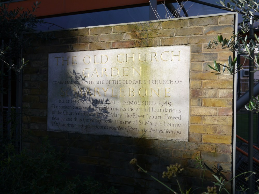 Marylebone Old Church sign
