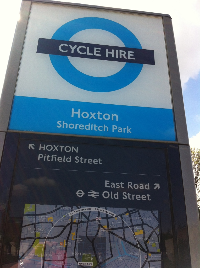 boris bike sign