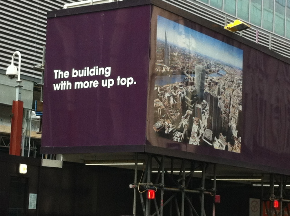 20 Fenchurch St sign