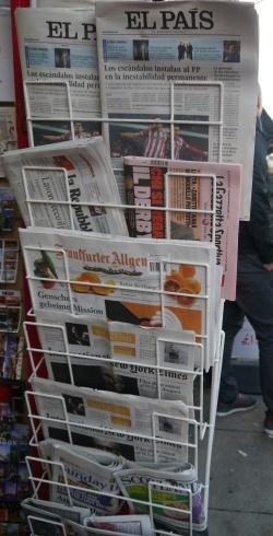 La Repubblica, El Pais, Frankfurter Allgemeine Zeitung etc