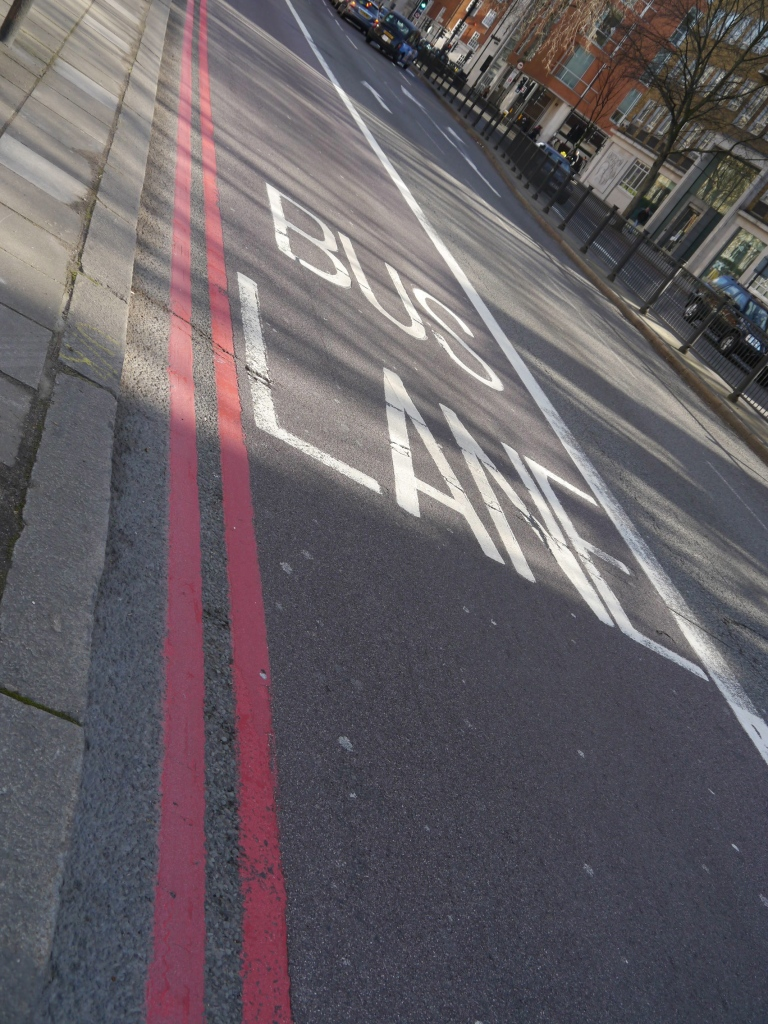 Bus lane on Marylebone Road