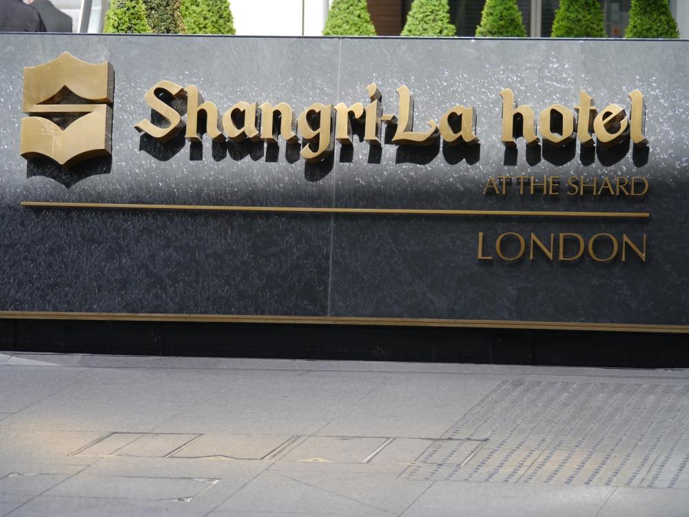 Shangri-la Shard sign