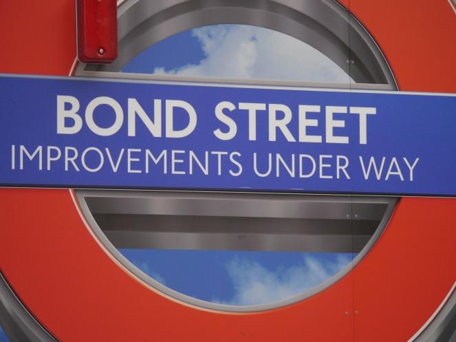 bond street improvements sign