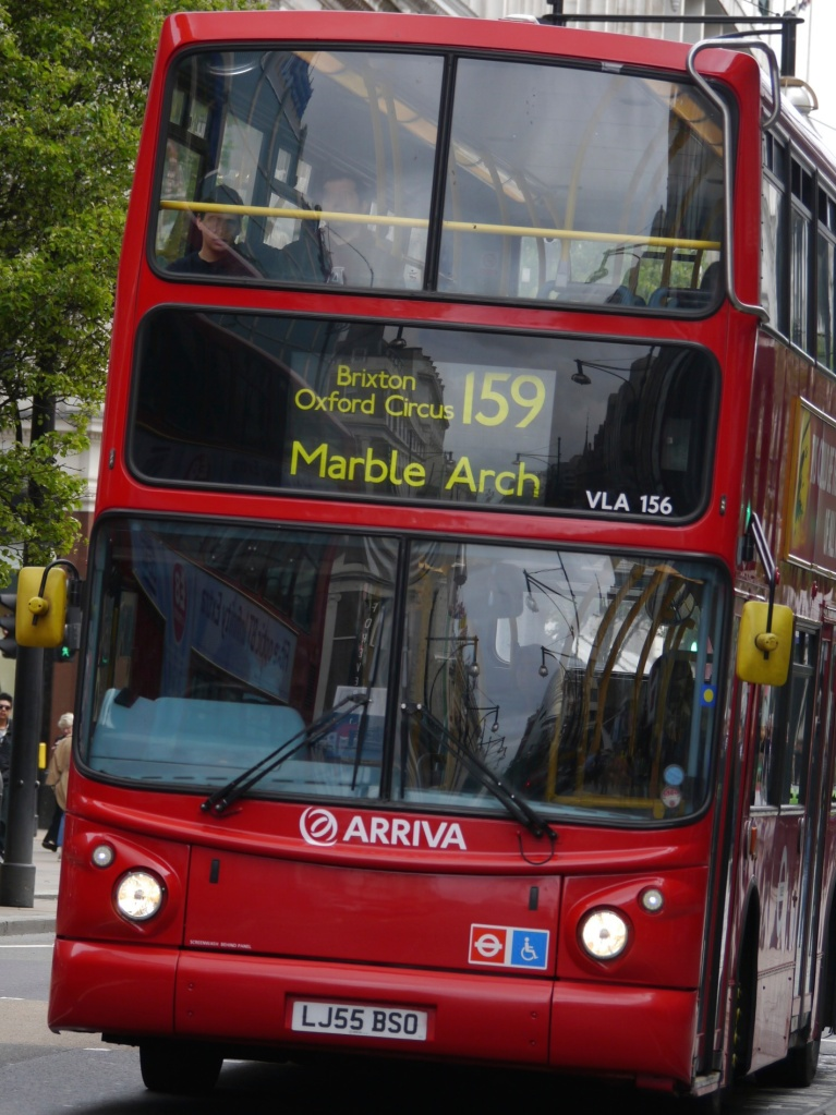 Number 159 bus on Oxford Street