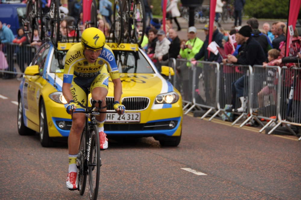 Rider from Team Tinkoff Saxo