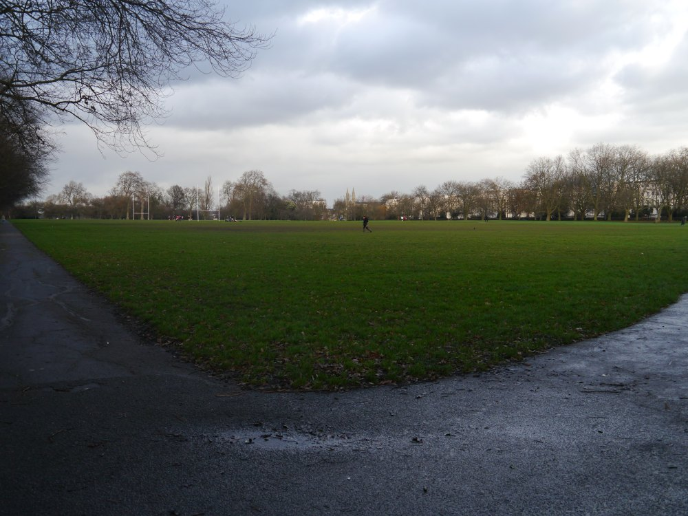 rugby pitch in Regent's Park