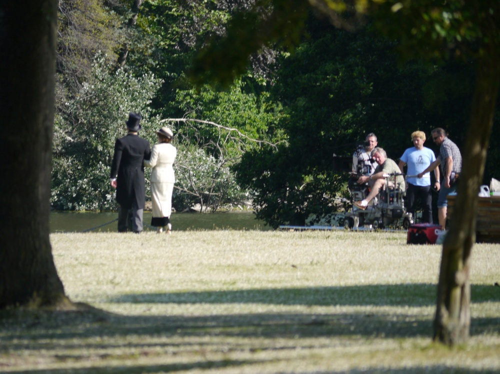 Regents Park Mr Selfridge camera
