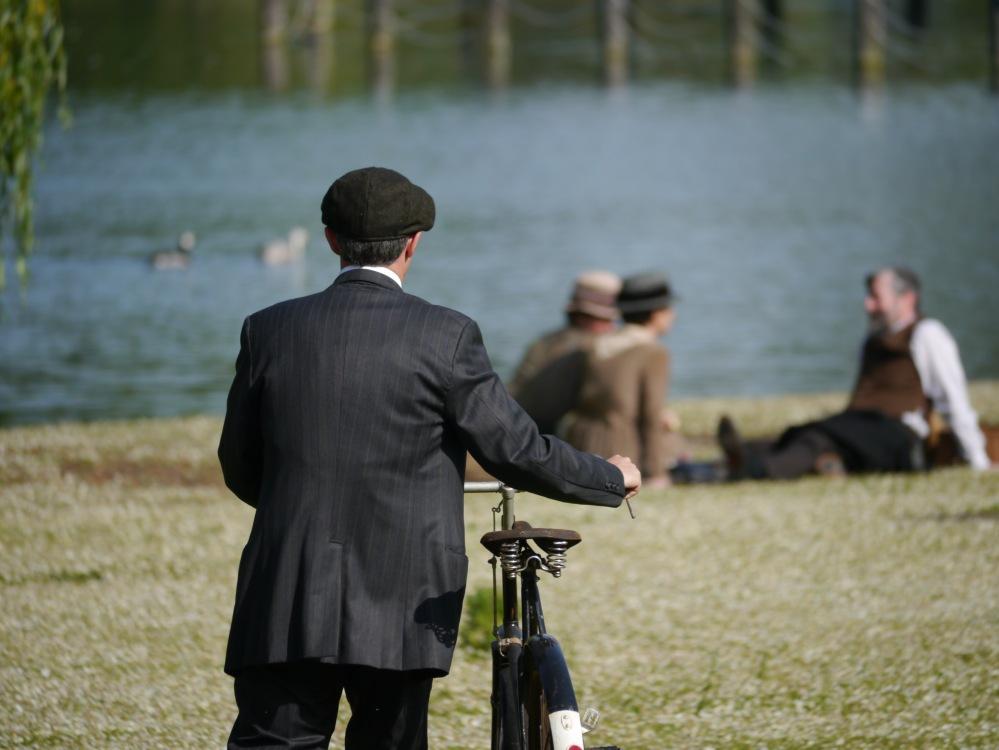 Regents Park Mr Selfridge bicycle