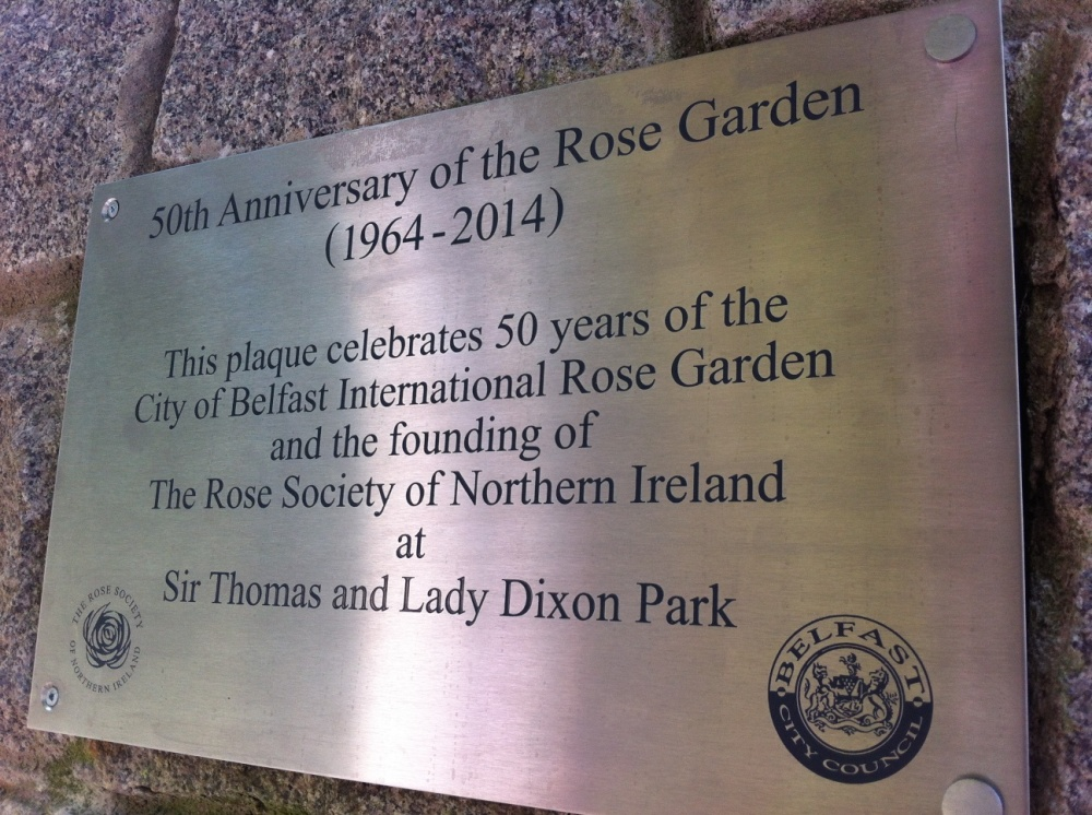 Rose Garden plaque