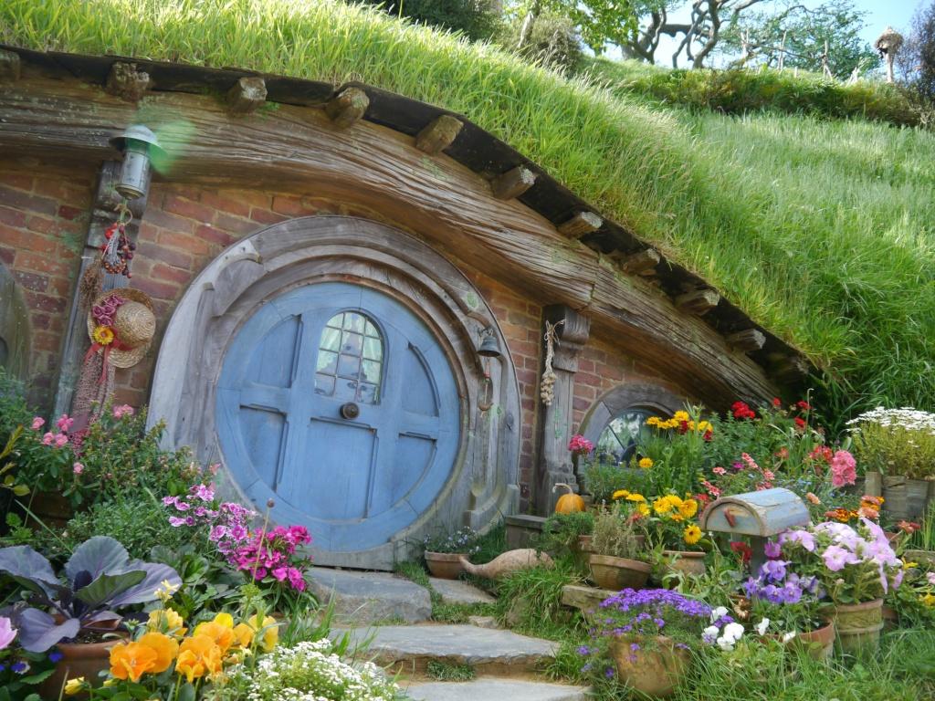 blue door hobbit hole