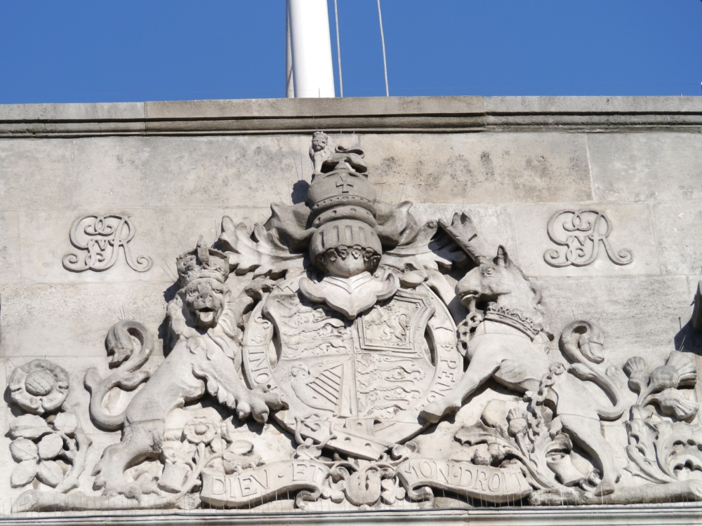 Coat of arms at court