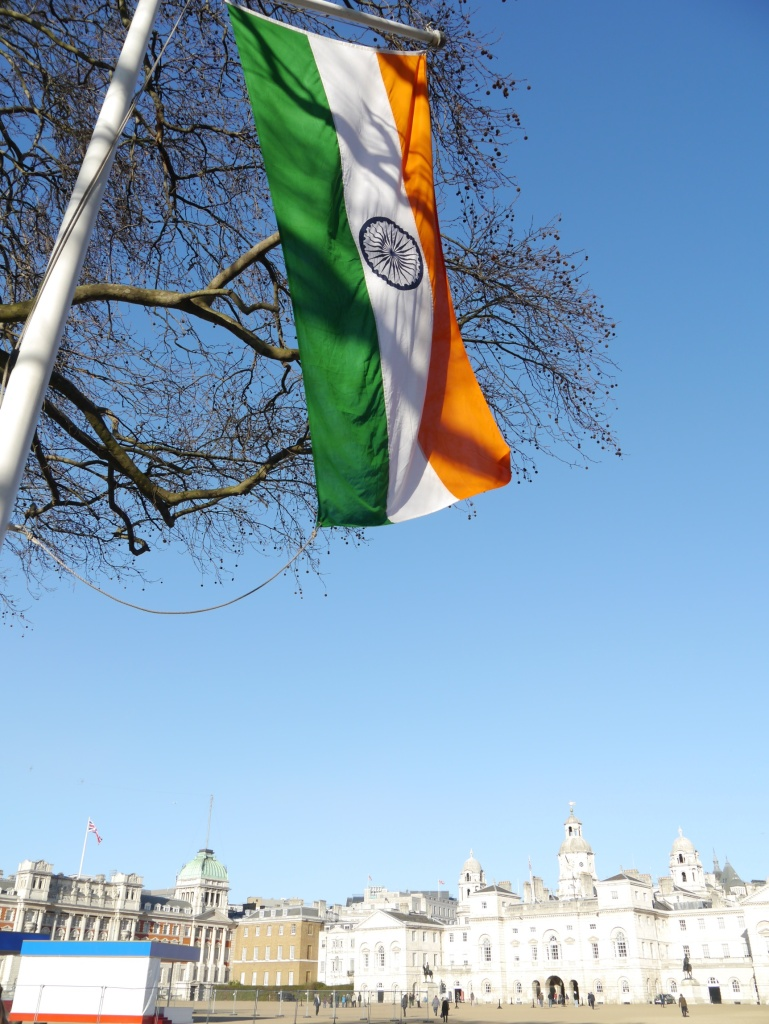 indian flag at horseguards
