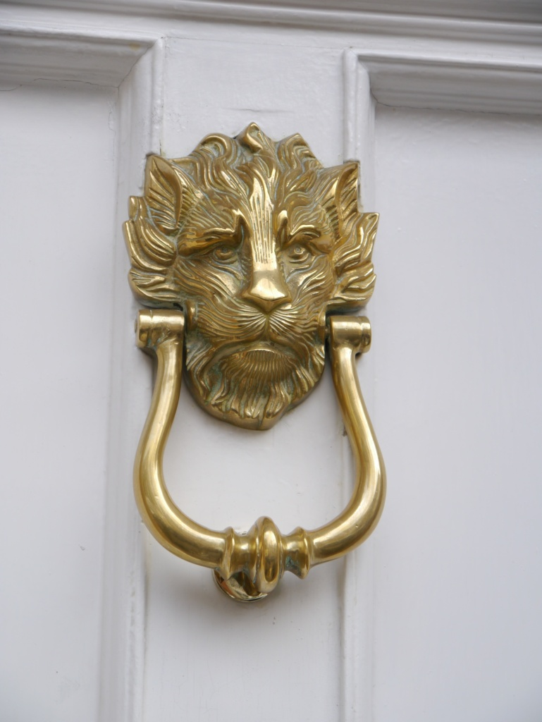 sad lion doorknocker