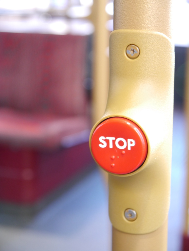 stop button on bus