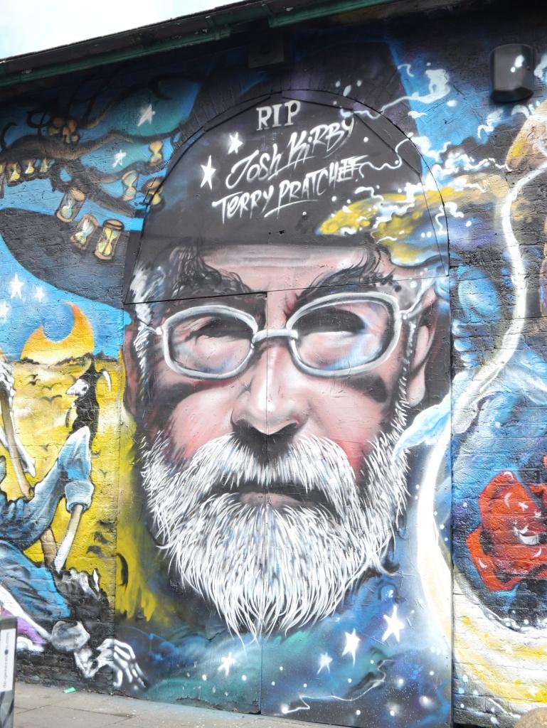 Terry Pratchett street art