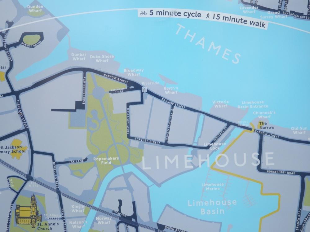 Limehouse Legible London map