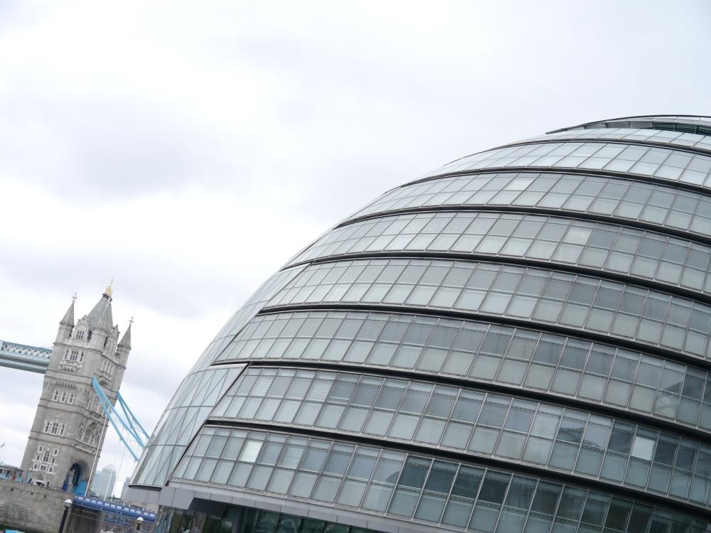City Hall beside Tower Bridge