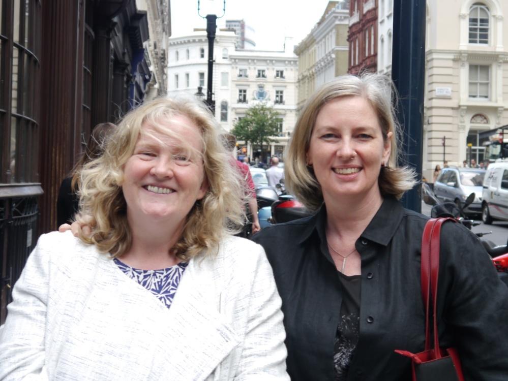Karolyn and Carissa in London