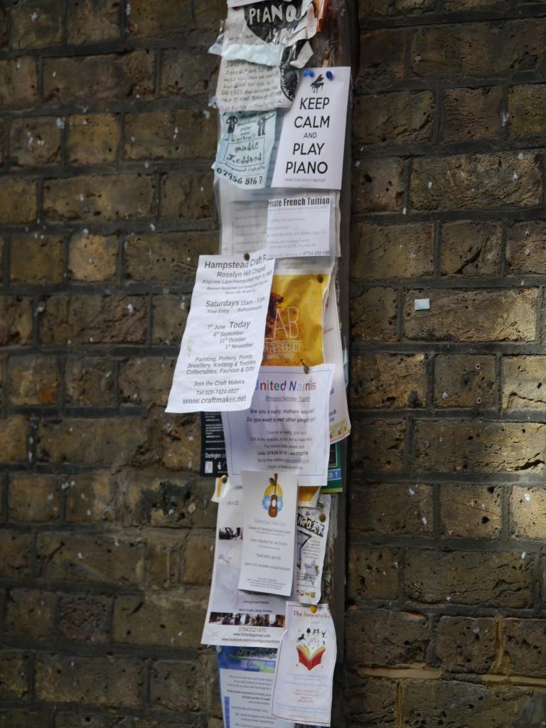 NW3 Flask Walk community noticeboard
