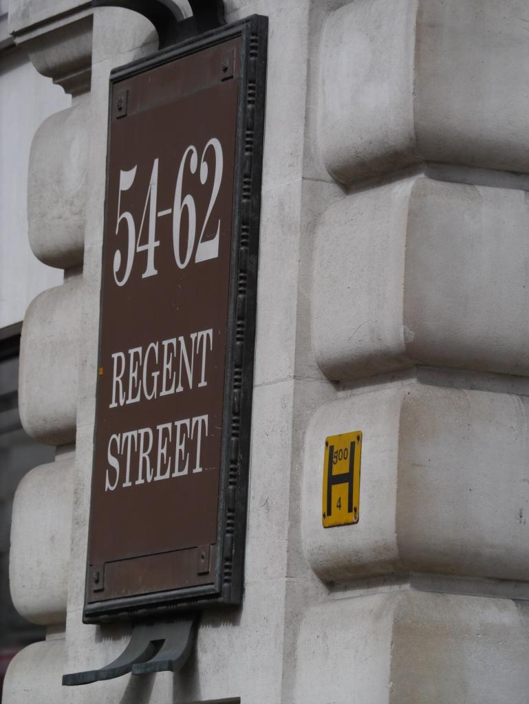 London fire hydrant Regent Street wall