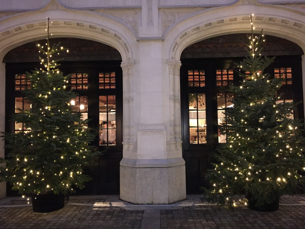 Chiltern Firehouse Christmas trees