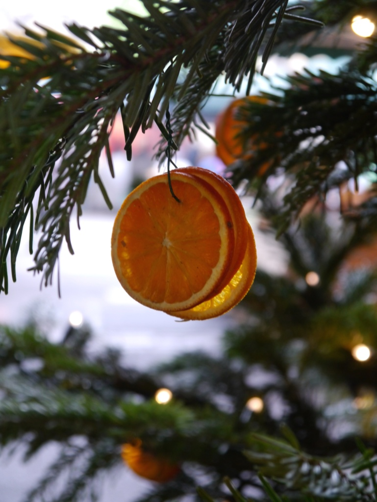 Borough Market tree with orange slices