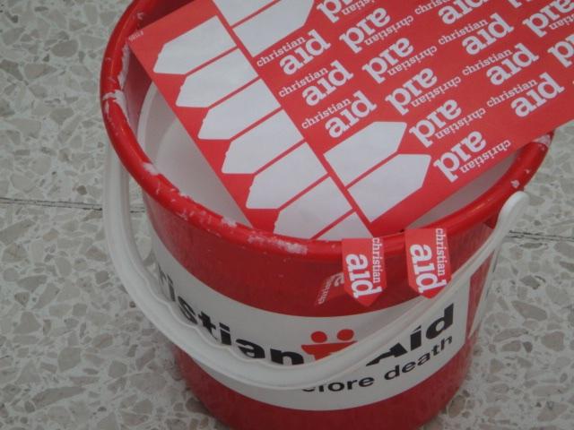 Christian Aid bucket