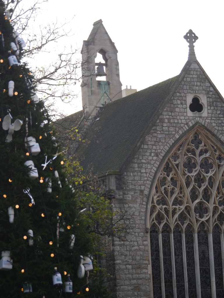 Farm Street church and Connaught Christmas tree