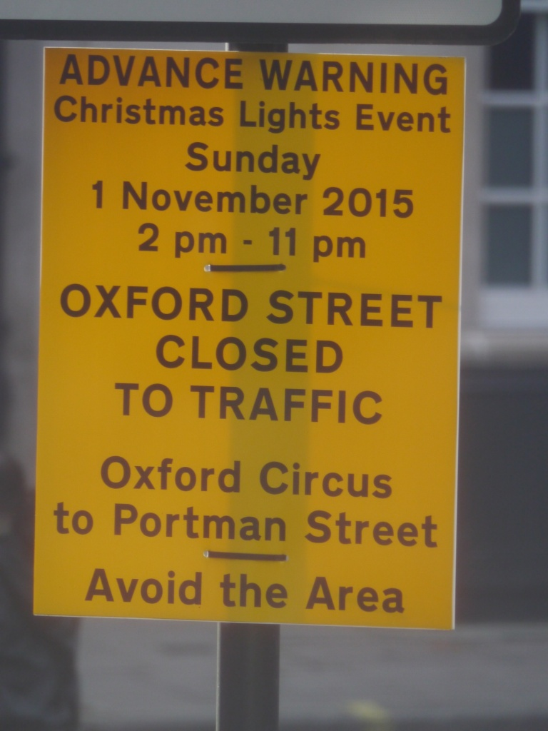 Oxford Street traffic sign