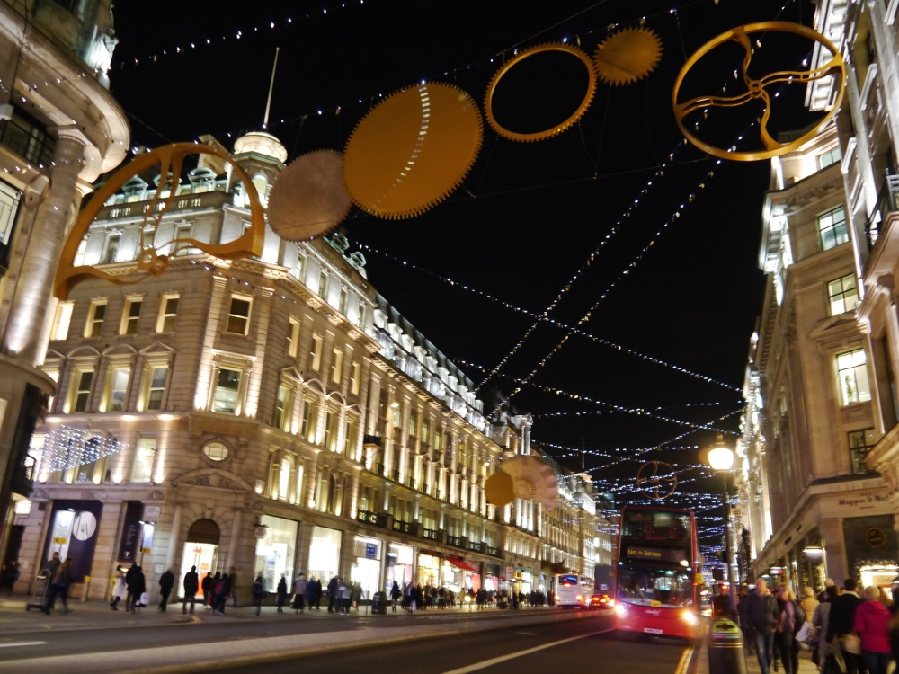 Regent Street lights and bus