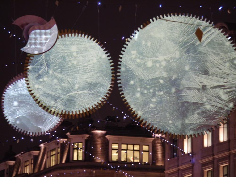 Regent Street lights ice